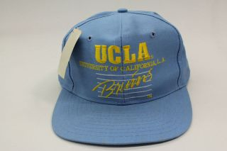 Bruins Light Baby Blue Yellow Authentic One Size Snapback Hat Vintage