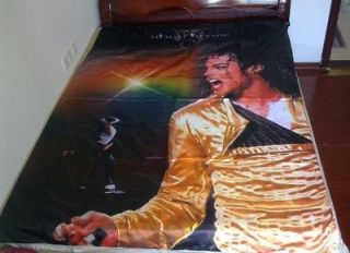Michael Jackson MJ History World Tour rare Bedding Sheet blanket