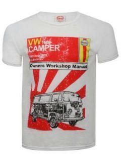 Haynes VW Camper Van Cotton T Shirt   White