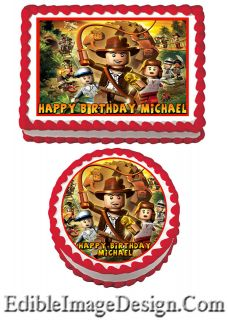 LEGO Edible Birthday Party Cake Image Cupcake Topper Favor Supply