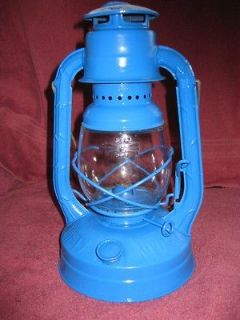 Restored Blue Dietz Little Wizard Kerosene Lantern, NY, USA