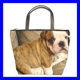 Bucket Bag Handbag ENGLISH BULLDOG Puppy Dog Pet Animal (21648068)