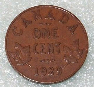 1929 Canada Canadian PENNY 1 one CENT small cent COIN