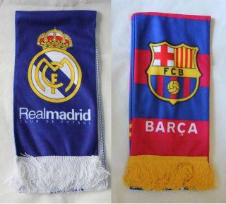 La Liga Scarf, Barcelona Scarf, Real Madrid Scarf, Fleece Scarf El