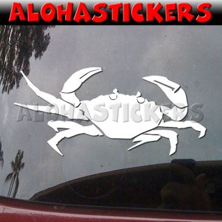 Crabber Fishing Car Truck Boat Laptop Vinyl Decal Window Sticker I15