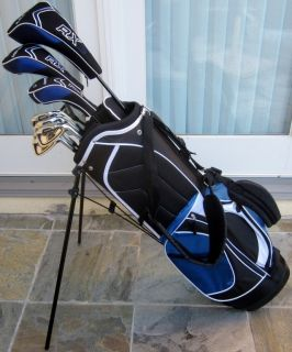 NEW Mens Complete Golf Club Set Driver Wood Hybrid Irons Putter Stand