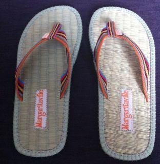 New Jimmy Buffett Margaritaville Calypso Sandal Flip Flop Rainbow
