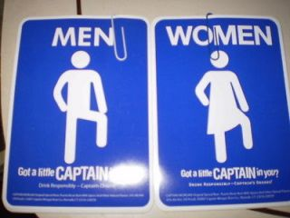 Captain Morgan Men/Woman Sticker set