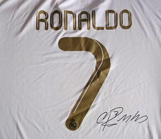 NEW!! REAL MADRID SOCCER SHIRT SIGNED BY THE GREAT CRISTIANO RONALDO