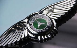 Mercedes Benz Badge Wings Car Logo 3D Front Hood Emblem 8.5*2.7 inches