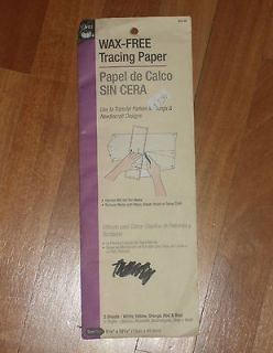 NEW Dritz wax free tracing paper sewing