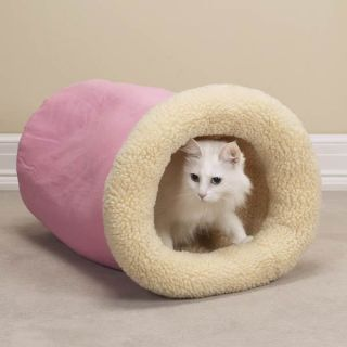 Savvy Tabby Kitty Cat Kitten Tumble Beds PINK or BLUE Sherpa Lined