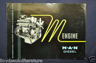 1959 1960 MAN M Type Diesel Truck Engine Sales Brochure Catalog