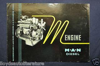 1959 1960 MAN M Type Diesel Truck Engine Sales Brochure Catalog