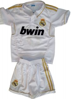 REAL MADRID SOCCER JERSEY & SHORT YOUTH SIZES