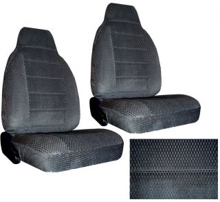GREY SCOTTSDALE FABRIC HIGH BACK NEW SEAT COVERS CAR TRUCK SEATCOVER