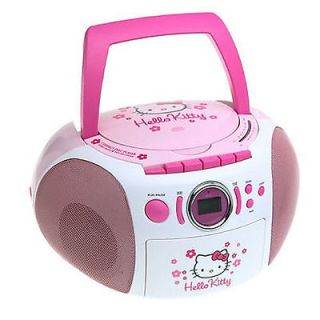 Hello Kitty Stereo CD Boombox #zTS