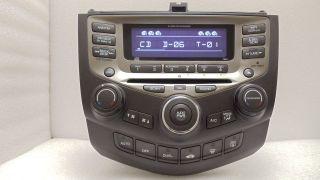 05 06 07 HONDA Accord Radio Stereo 6 Disc Changer CD Player 7BO1