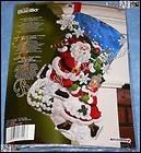 Bucilla THE SKATING CLAUSES Stocking Felt Christmas Kit   Mr. Mrs