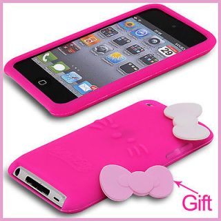 Hello Kitty Silicone Skin Case Back Cover For iPod Touch 4 Gen 4G 4th