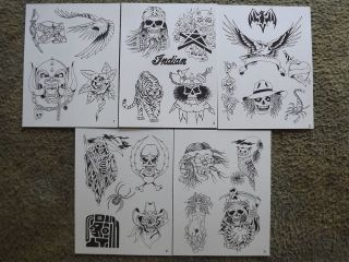 Tattoo Flash   Set A  10 Sheets of Quality Designs $$$