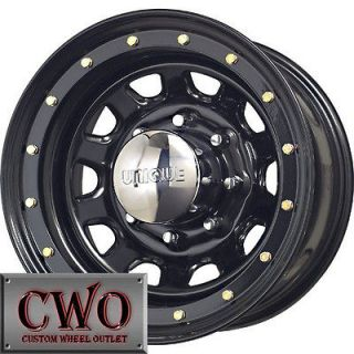 15 Black Unique 252 Wheels Rims 5x114.3 5 Lug Jeep Wrangler Ranger