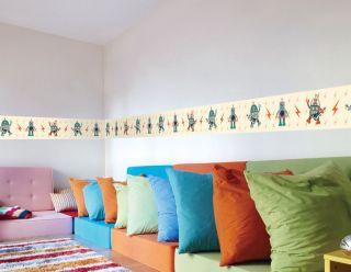 Julius Monkey Robot Wall Borders Wallpaper Decals Children Bedroom