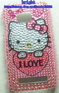 New Hello kitty Rhinestone BLing Case Cover For Nokia Lumia 710 #5
