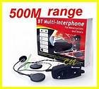 500M interphone Bluetooth Motorbike Motorcycle helmet intercom Headset