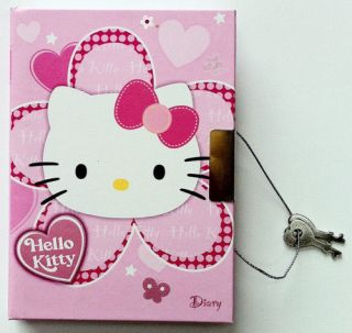 HELLO KITTY OFFICIAL LOCKABLE HARD COVER DIARY WITH 2 KEYS BRAND NEW