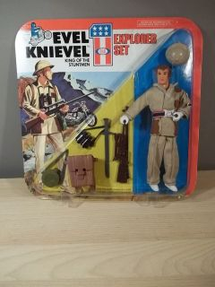 RARE VINTAGE 1975 EVEL KNIEVEL STUNTMEN EXPLORER SET IDEAL MIB NIB MOC