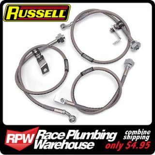 RUSSELL 02 06 DODGE RAM 1500 TRUCK with 4 6 LIFT 4WD STAINLESS BRAKE