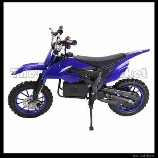 Electric Dirt Bike Scooter Mini Bike OFF ROAD High Performance BLUE