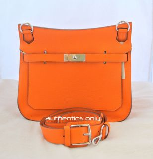 BRAND NEW AUTHENTIC HERMES BIRKIN KELLY JYPSIERE ORANGE CLEMENCE 37CM