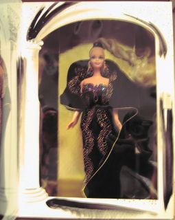 Gala Barbie (1995) #4 • Black Velvet • Stand • Holiday • NRFB