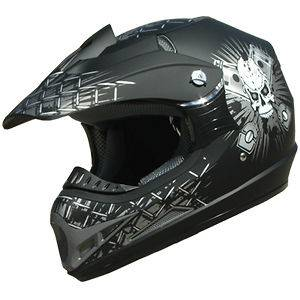 Off Road racing ATV Motocross Dirt Bike Helmet DOT 180 flat black