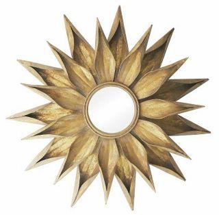 Decorative Round Sunburst Flower Starburst Wall Mirror   36W