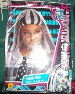 Monster High Frankie Stein Child Wig Sz 8+ New