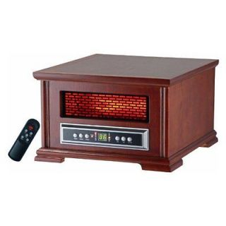 LPHW 3 1500 Watt Compact Wood Cabinet Quartz Infrared Heater