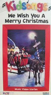 KIDSONGS WE WISH YOU A MERRY CHRISTMAS MUSIC VIDEO / VHS TAPE