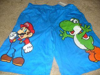 Super Mario Yoshi Mens Sleep Shorts Boxers Brief Underwear 2XL
