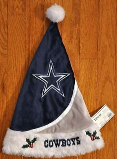 Dallas Cowboys Team Logo Holiday Santa Hat NEW NFL Swoop   Adult one
