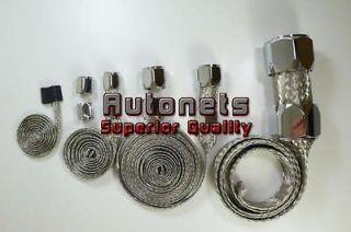 Chrome Stainless Steel Braided Vacuum radiator Fuel heater Hose cover