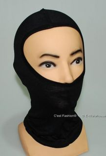 Head Face Mask Hood Biker Motor Bike Helmet Liner Sheer Cotton Black