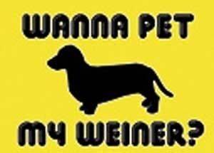 Offensive T Shirt Wanna Pet My Weiner Dog? Rude Tee Funny Shirt
