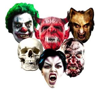 HALLOWEEN Party Face Masks scary horror mask monsters zombie trick or