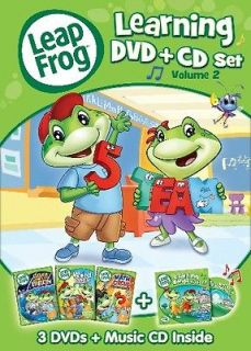LEAPFROG LEARNING SET VOL 2 New 3 DVD + CD Leap Frog