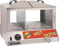 Adcraft Hot Dog Steamer ~ HDS 1000W ~ 100 Hot Dog Capacity