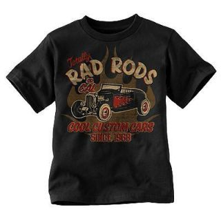 Custom Cars T Shirt Boys or Girls   Classic Rat Rod Car Show Antique