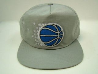 ORLANDO MAGIC ZIP STRAPBACK HAT GRAY RETRO NYLON MITCHELL & NESS NBA